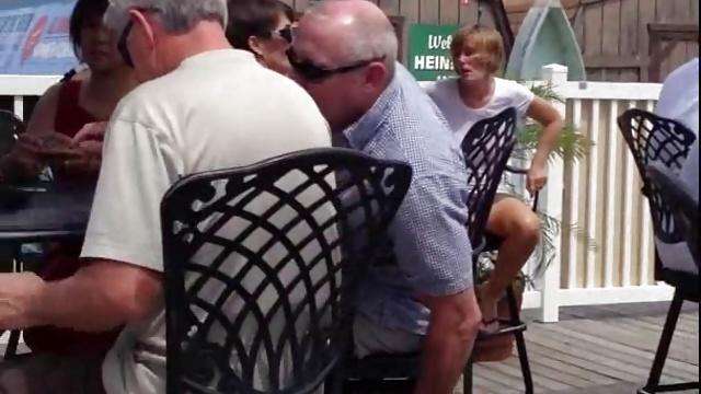 Beach Bar Waitress Voyeur