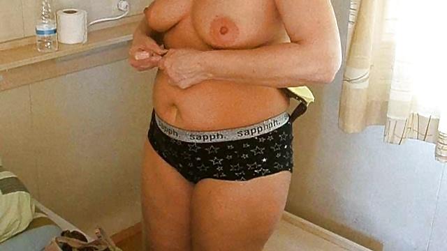Caught changing into bikini
