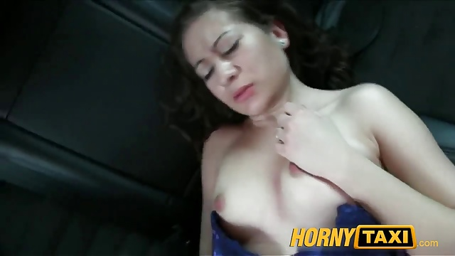 HornyTaxi 18 Years old and sucking taxi cock