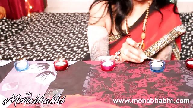 indian mona bhabhi celebrating diwali