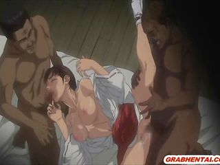 Japanese hentai gangbanged by ghetto anime