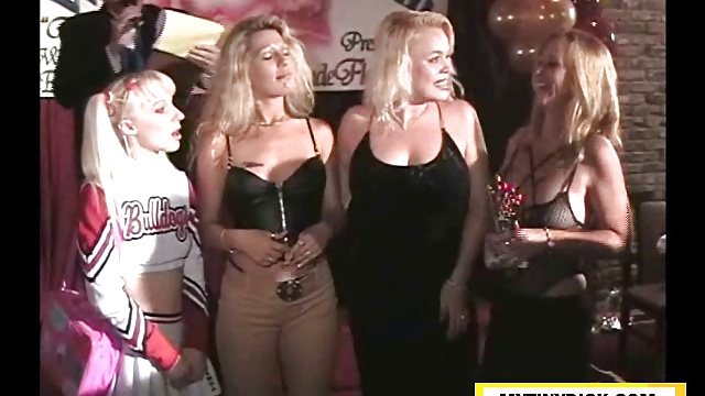Lesbos celebrating with a 3some