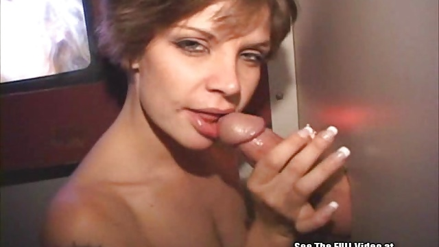 Lezbo Banker Bitch Blowing Cocks In Glory Hole