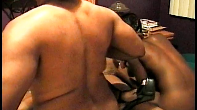 Orgy in bedroom with ebony females and two black cocks