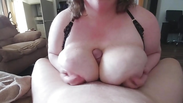 Another titty fucking session…