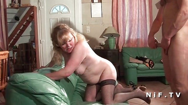 Chubby french wife anal fucked