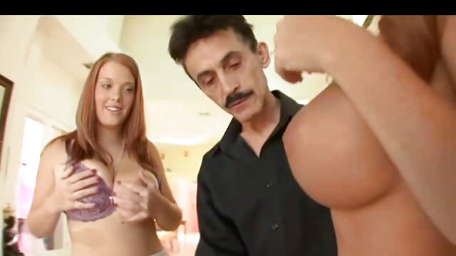 Mom Teaches Big Tit Hairy Redhead Sierra To Fuck
